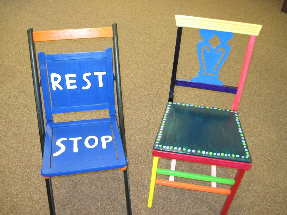 Rest Stop (folding chair) Ring of Dots